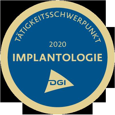 DGI Tätigkeitsschwerpunkt Implantologie 2018